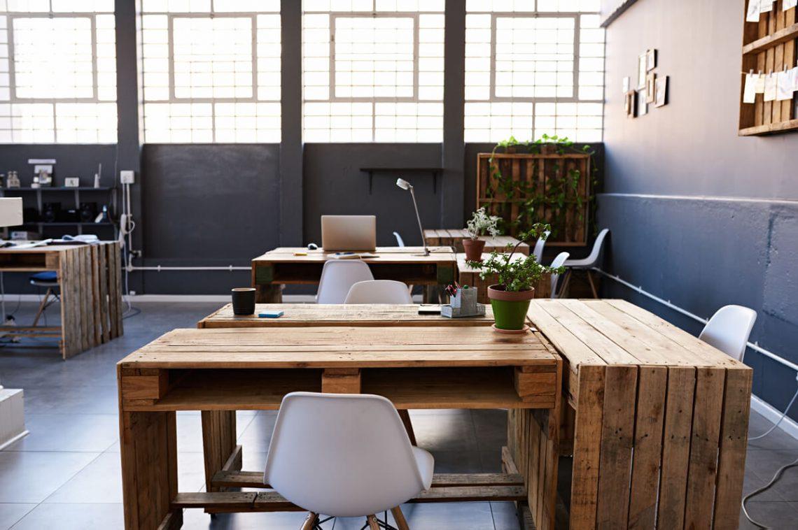 Custom office workspace