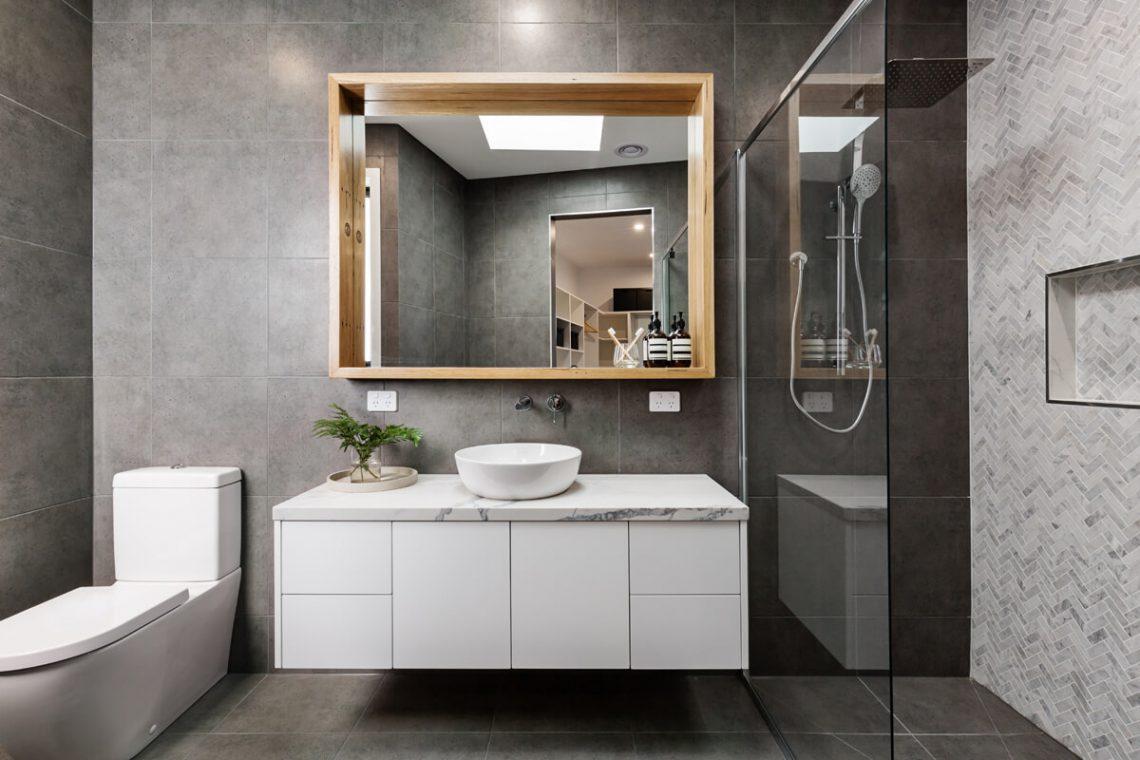 Clean, modern bath design