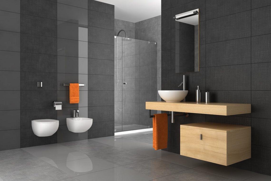 Contemporary minimal bathroom design