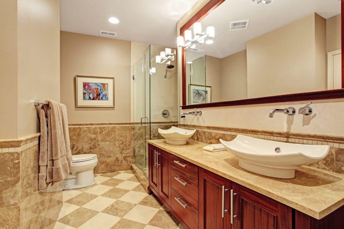 Bathroom shaker cabinets
